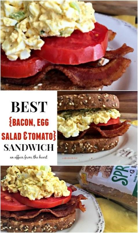 BEST {Bacon, Egg Salad & Tomato} Sandwich - An Affair from the Heart