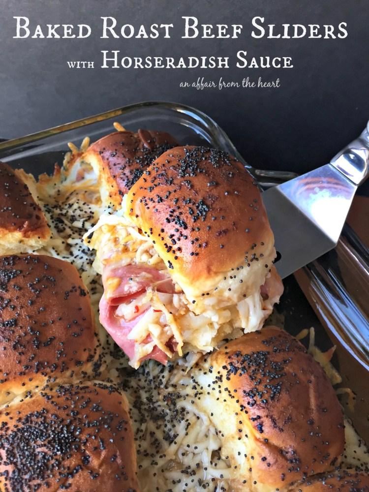 Baked Roast Beef Sliders with Horseradish Sauce