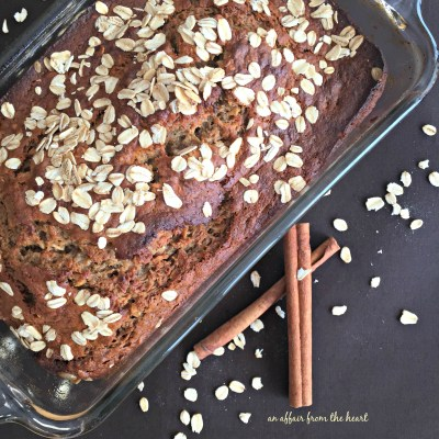 Banana Applesauce Oatmeal Bread