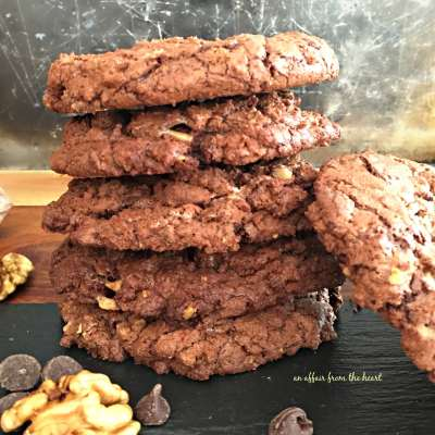 Giant Chocolate Toffee Cookies