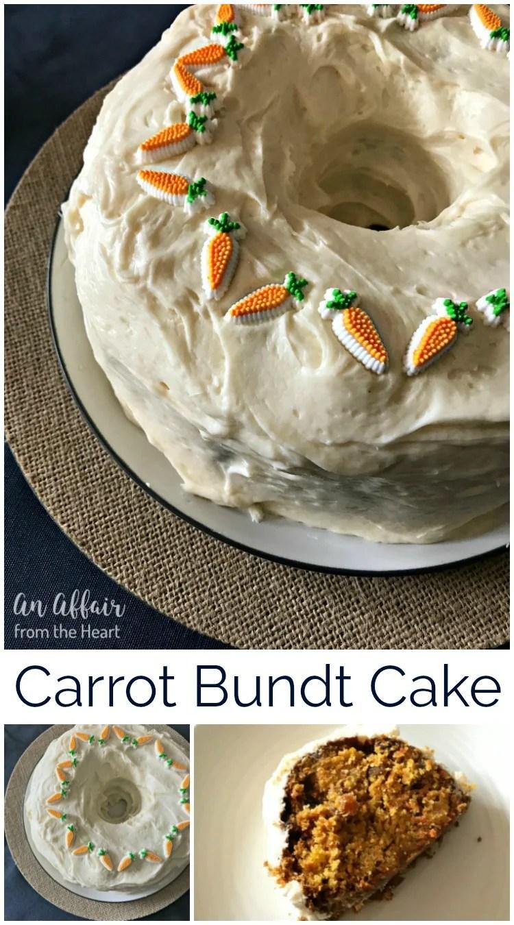 Carrot Bundt Cake - An Affair from the Heart