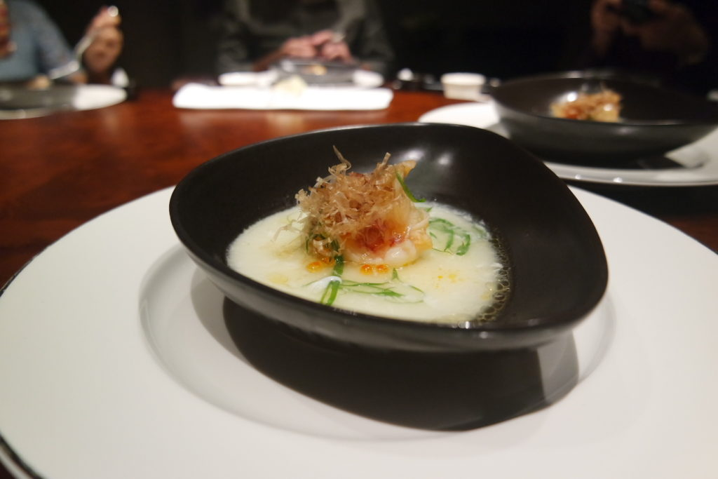Steamed Lobster with Egg White and Bonito