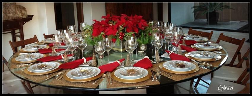 Centro de mesa con nochebuenas  Ana Galena