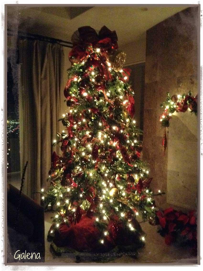 Decoracin de navidad rojo con verde  Ana Galena