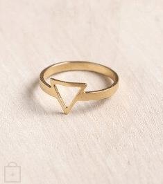 Shani Jacobi's Dainty Triangle ring