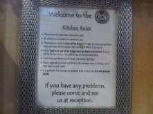 Kitchen notice, Rock&Bowls