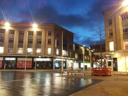 Bristol city centre in the morning