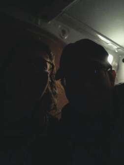 Sofi and me, heading to a club