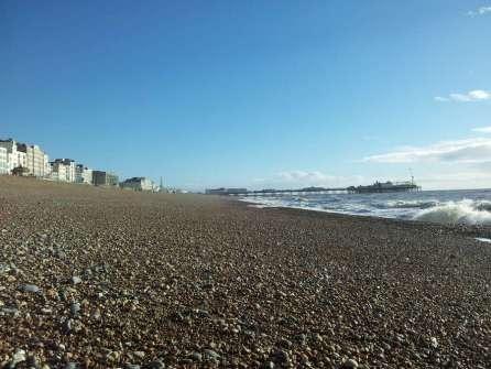 Brighton beach, nice weather
