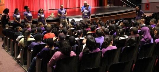 Children Listening in Auditorium