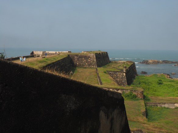 Wall of fort towards the ocean
