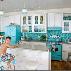 Teal Kitchen Appliances Desk Coloured A Bold Statement For Your