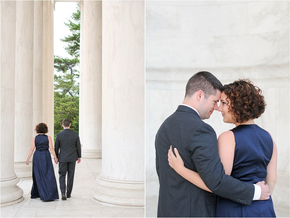 Classic Washington DC engagement session at the Jefferson Memorial29