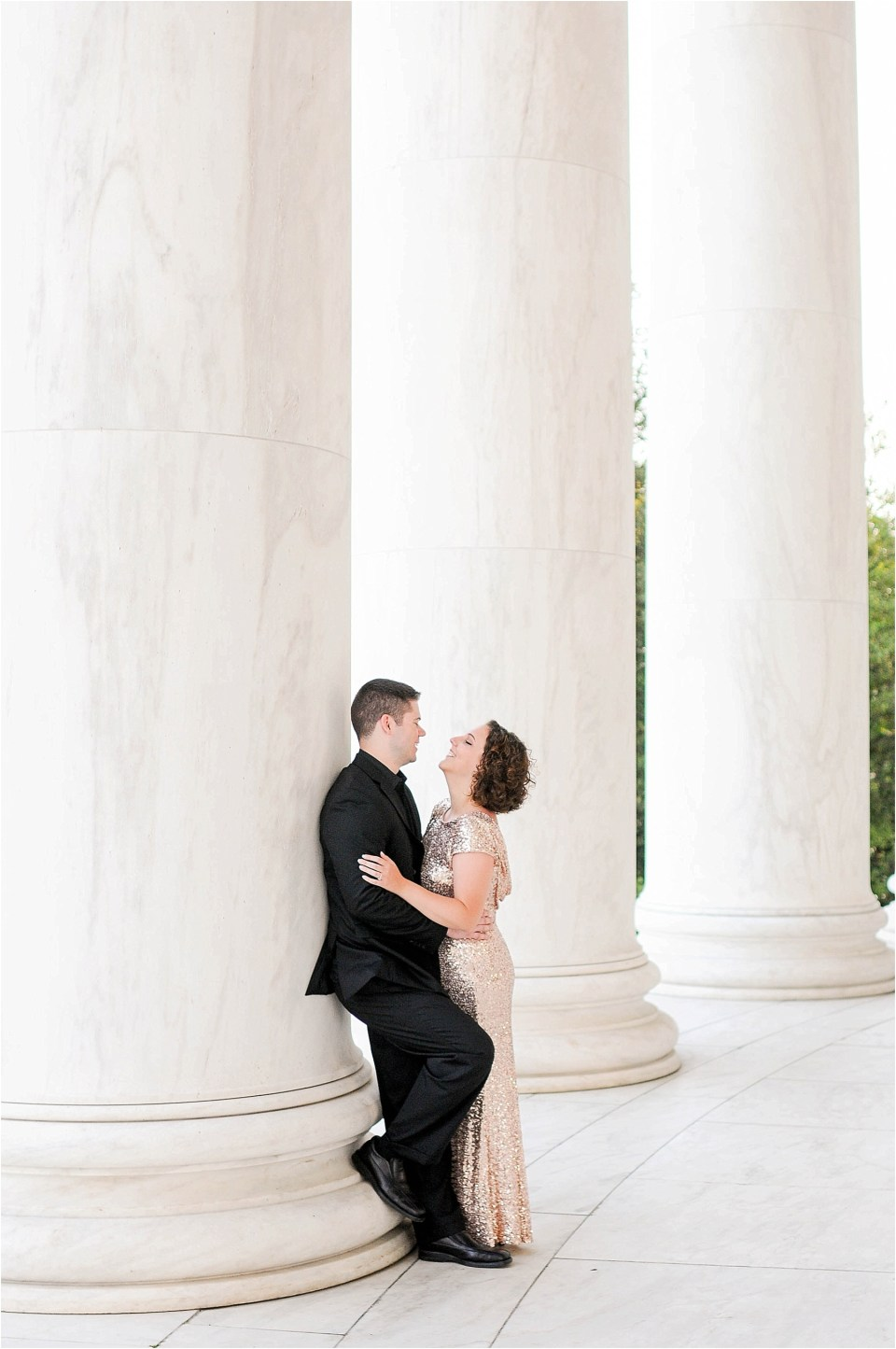Classic Washington DC engagement session at the Jefferson Memorial42