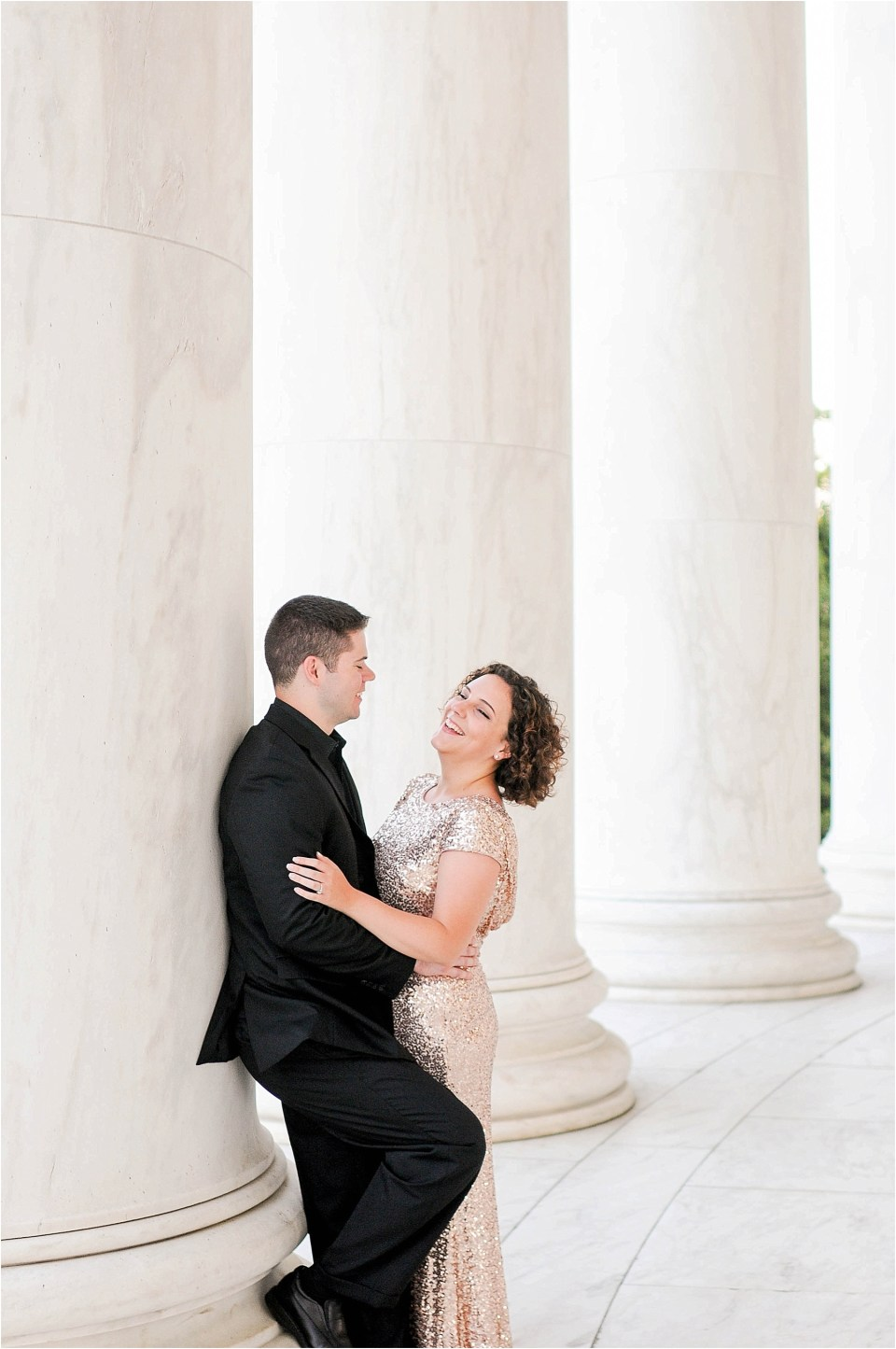 Classic Washington DC engagement session at the Jefferson Memorial43