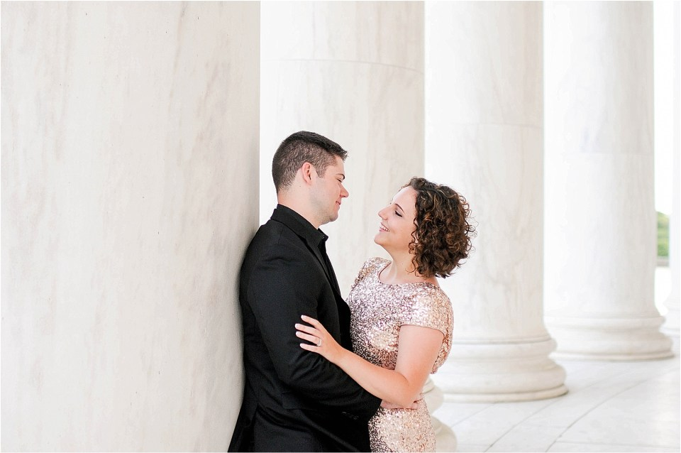 Classic Washington DC engagement session at the Jefferson Memorial45