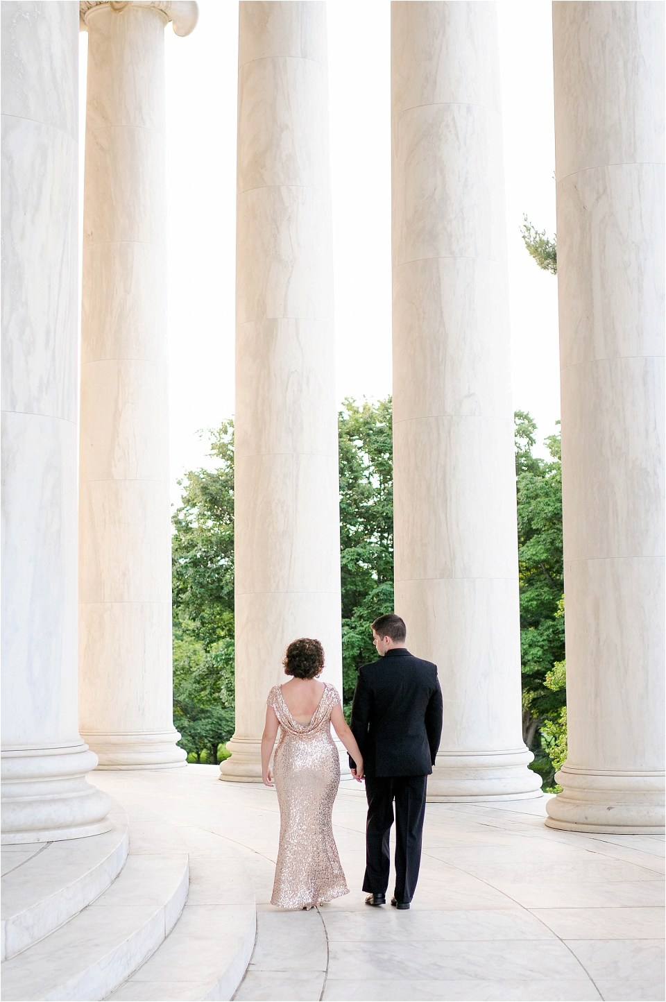 Classic Washington DC engagement session at the Jefferson Memorial46