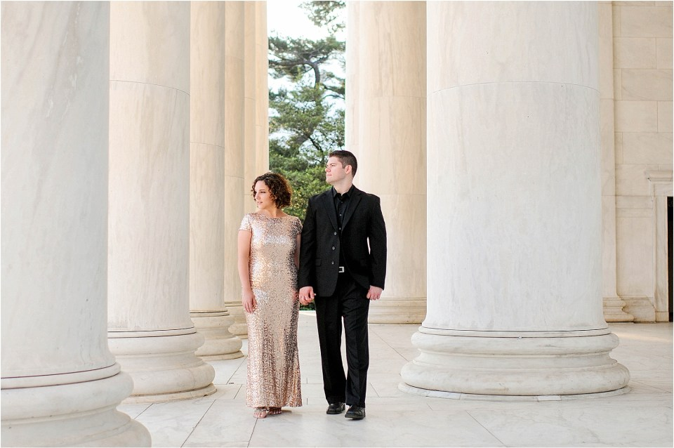 Classic Washington DC engagement session at the Jefferson Memorial56