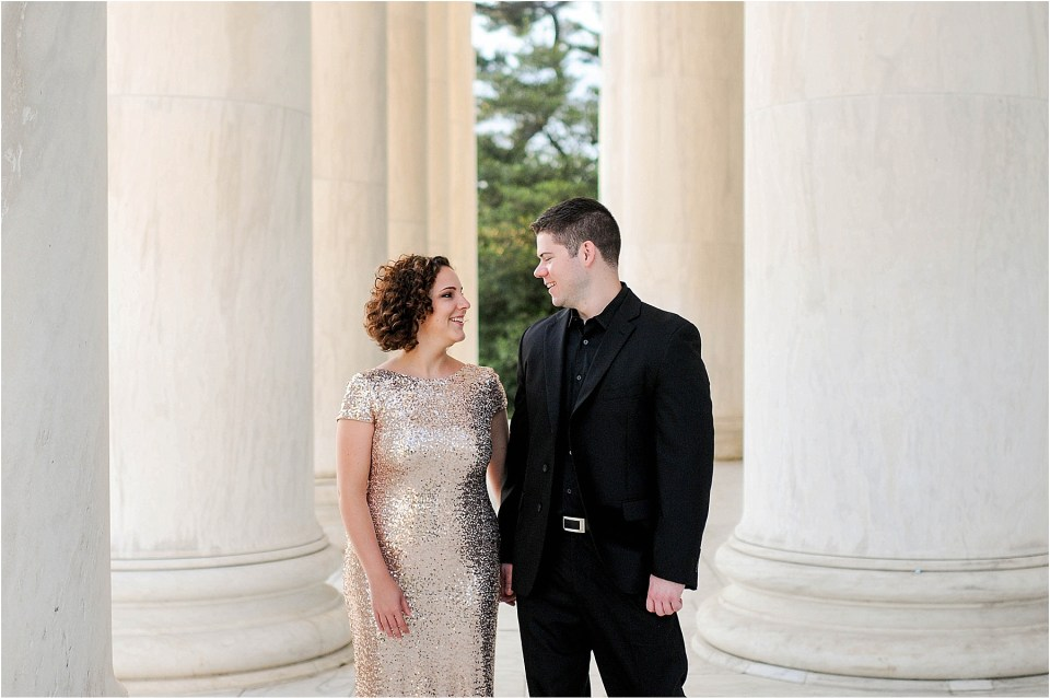 Classic Washington DC engagement session at the Jefferson Memorial57