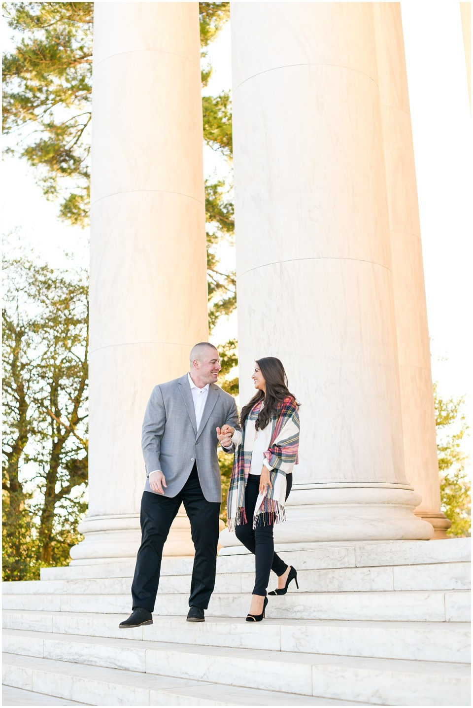 Fall Washington DC engagement photographer at Jefferson Memorial | Ana Isabel Photography