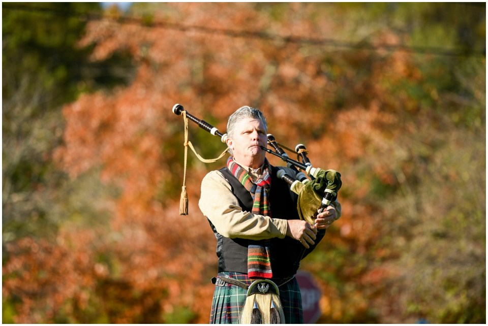 Bagpiper at Golf tournament at Turf Valley Golf Club