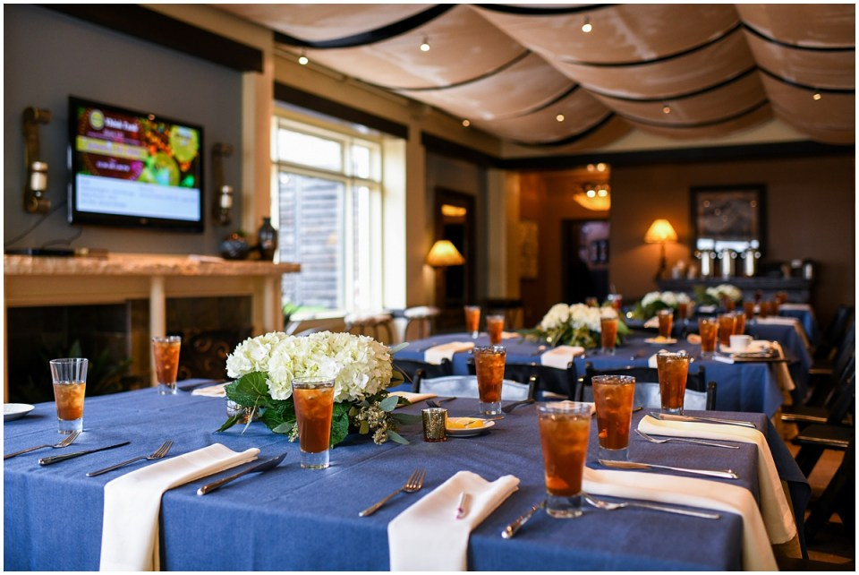 San Antonio event photographer at La Vista Terrace with hydrangea centerpieces