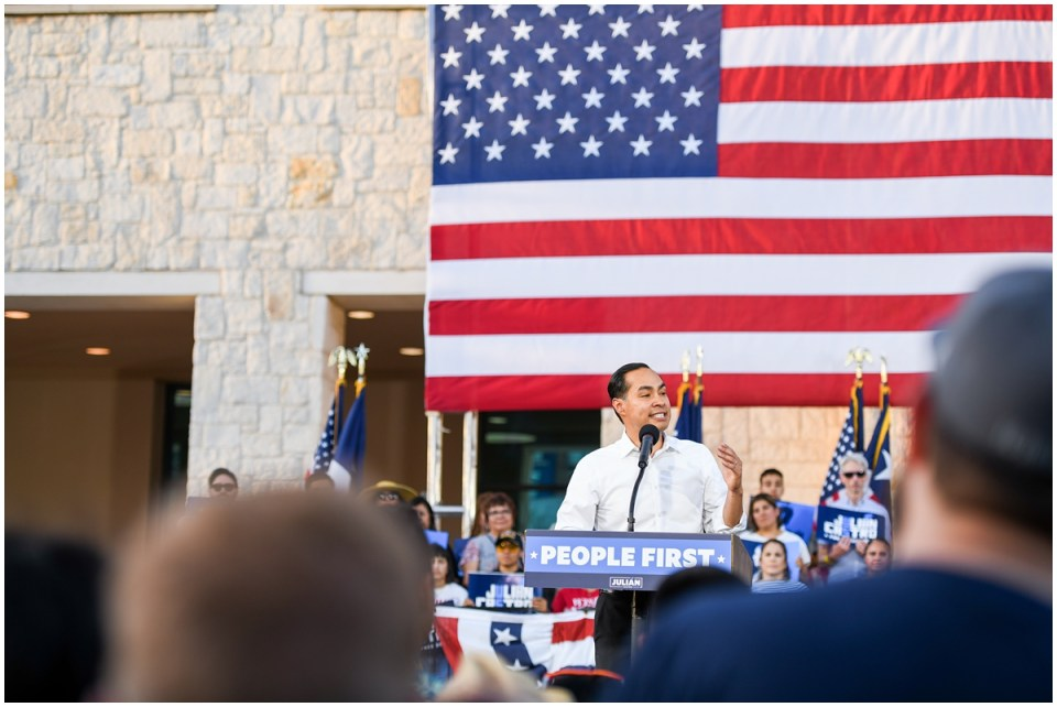 Presidential Candidate Julian Castro photographed by campaign political photographer Ana Isabel Martinez Chamorro