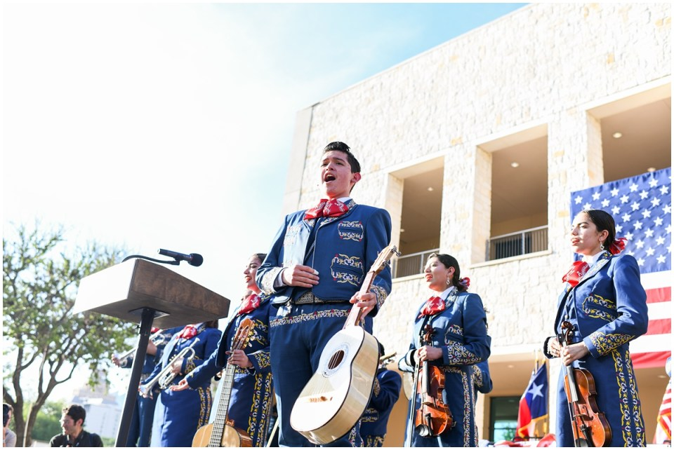 Julian Castro rally in San Antonio, TX with mariachi