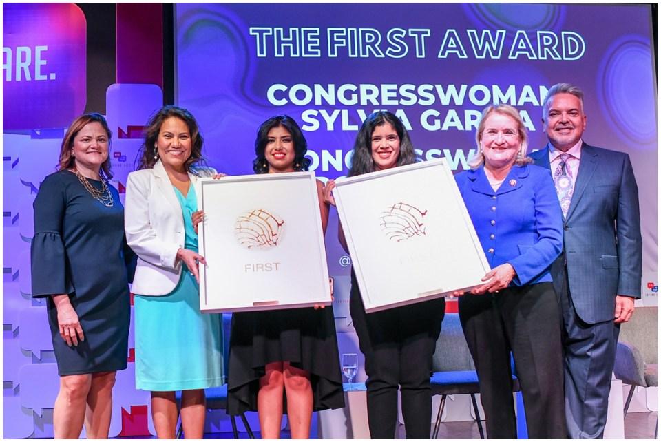 The First Award to Congresswoman Sylvia Garcia and Congresswoman Veronica Escobar