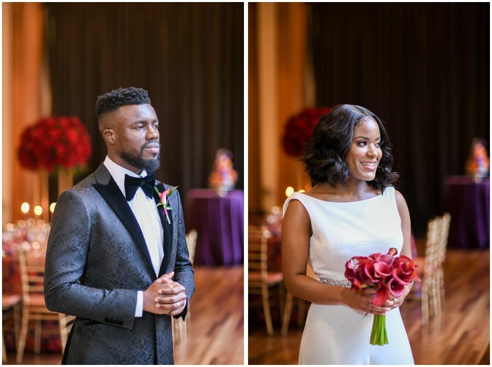 Washington, DC black wedding couple