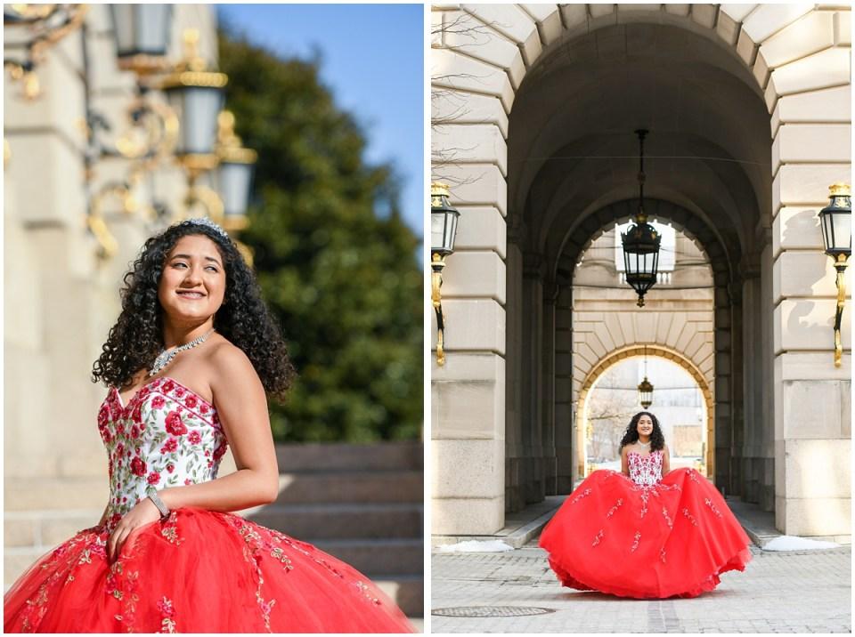 Quinceanera portrait photographer in Washington DC