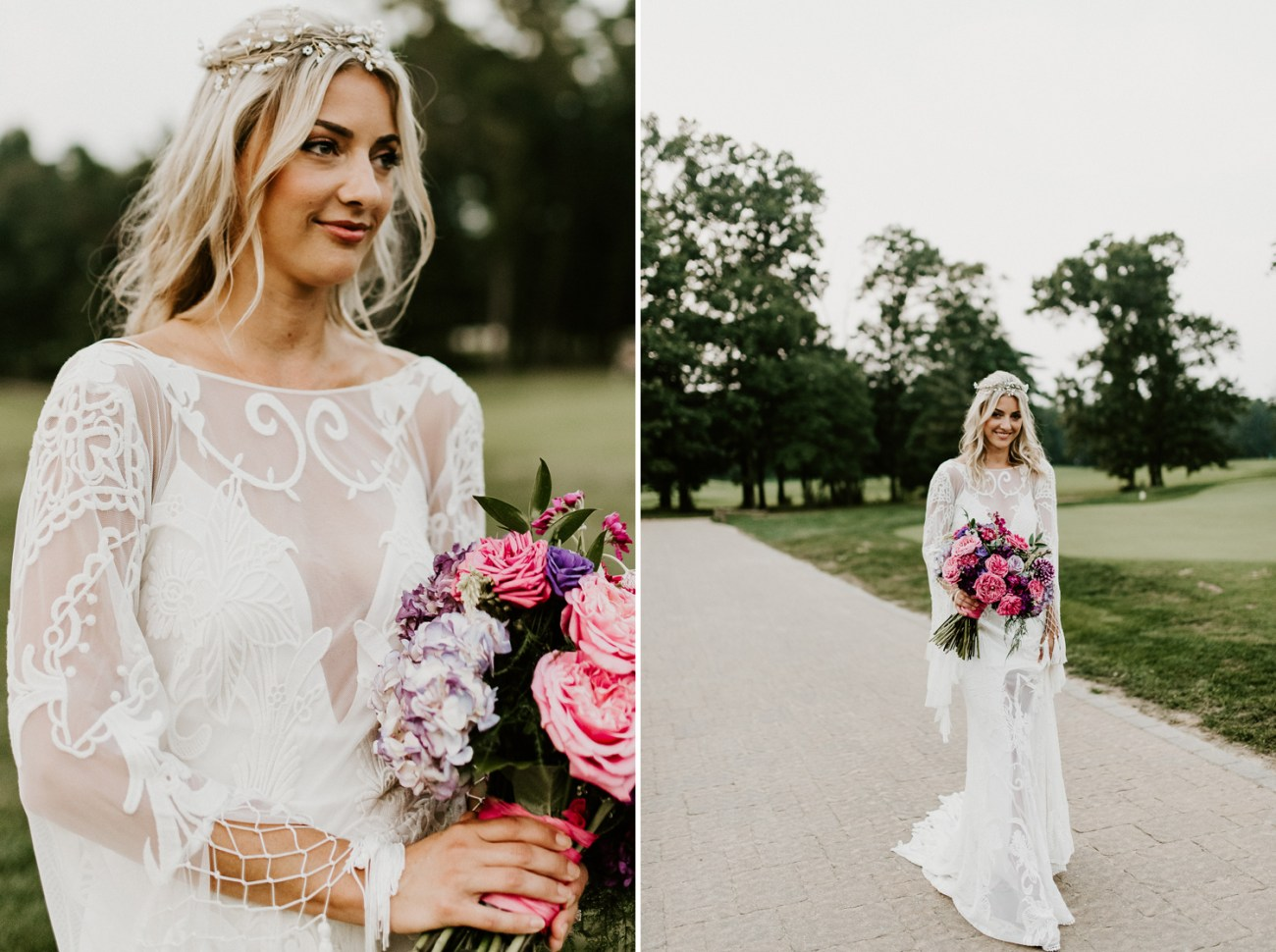Rue de Seine Wedding gown, Boho-inspired wedding