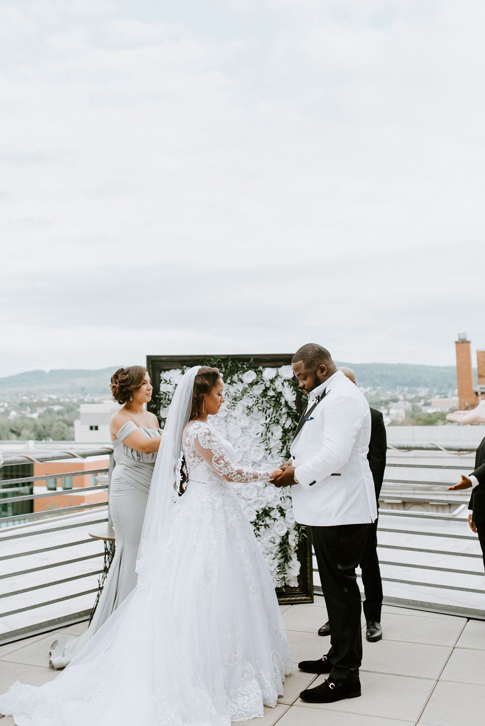 Balcony Wedding Ceremony at the Renaissance Hotel Allentown PA , New Jersey Wedding Photographer, Philadelphia Wedding Photographer Anais Possamai Photography