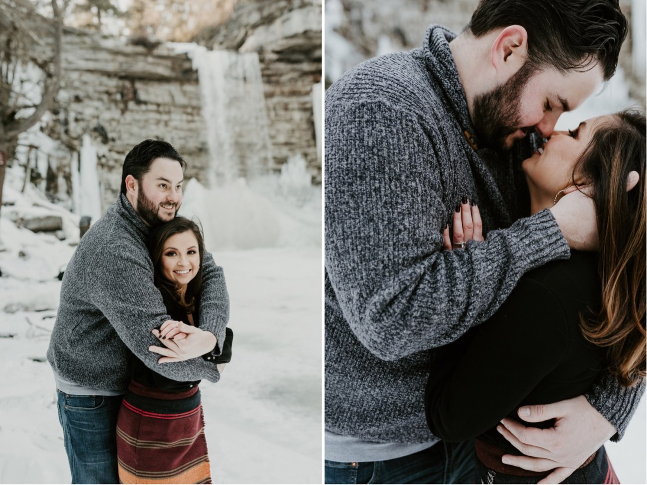 05 Minnewaska State Park Minnewaska Engagement Session Winter Engagement Adventurous Engagement