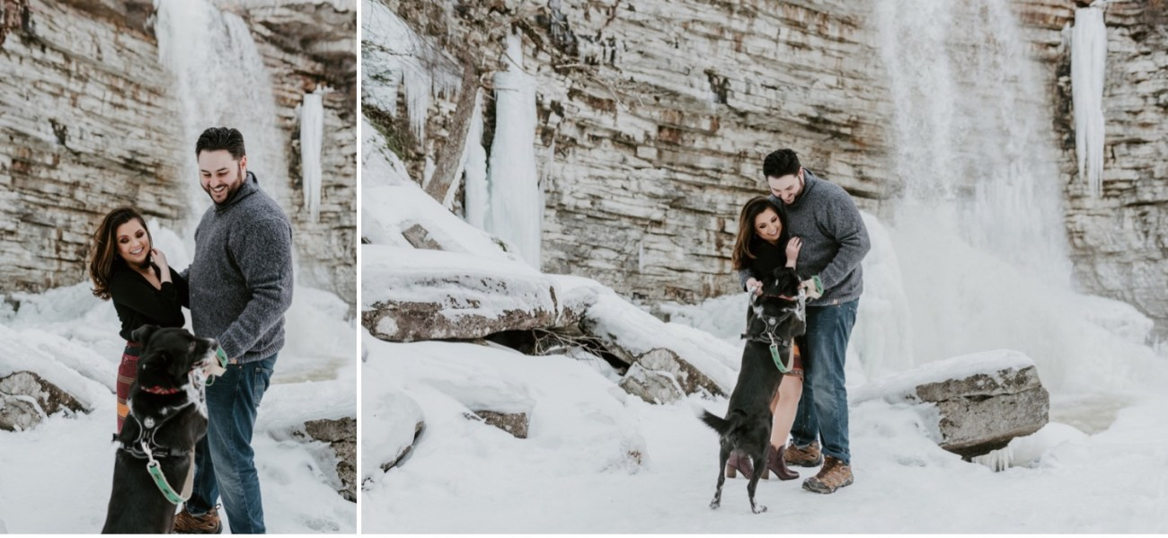 08 Minnewaska State Park Minnewaska Engagement Session Winter Engagement Adventurous Engagement