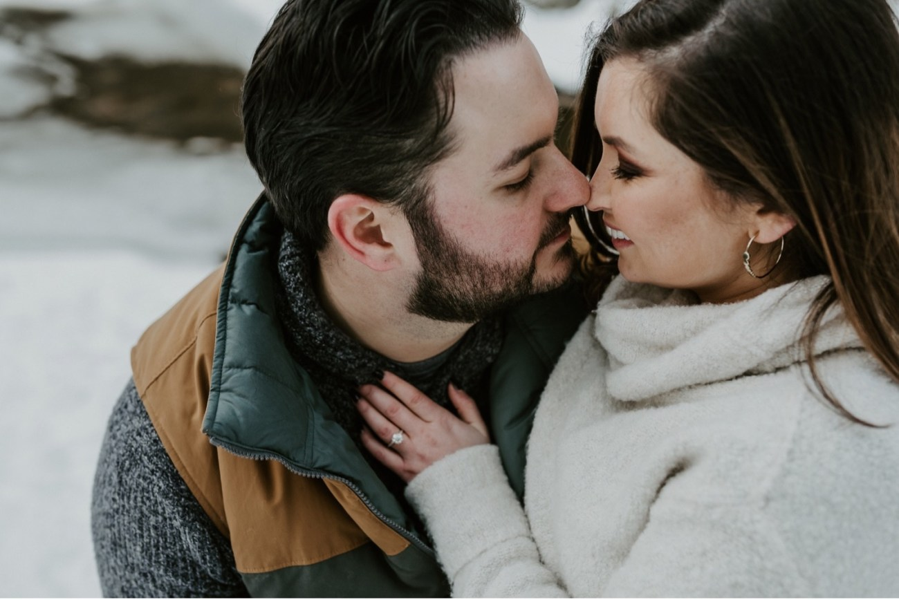 13 Minnewaska State Park Minnewaska Engagement Session Winter Engagement Adventurous Engagement