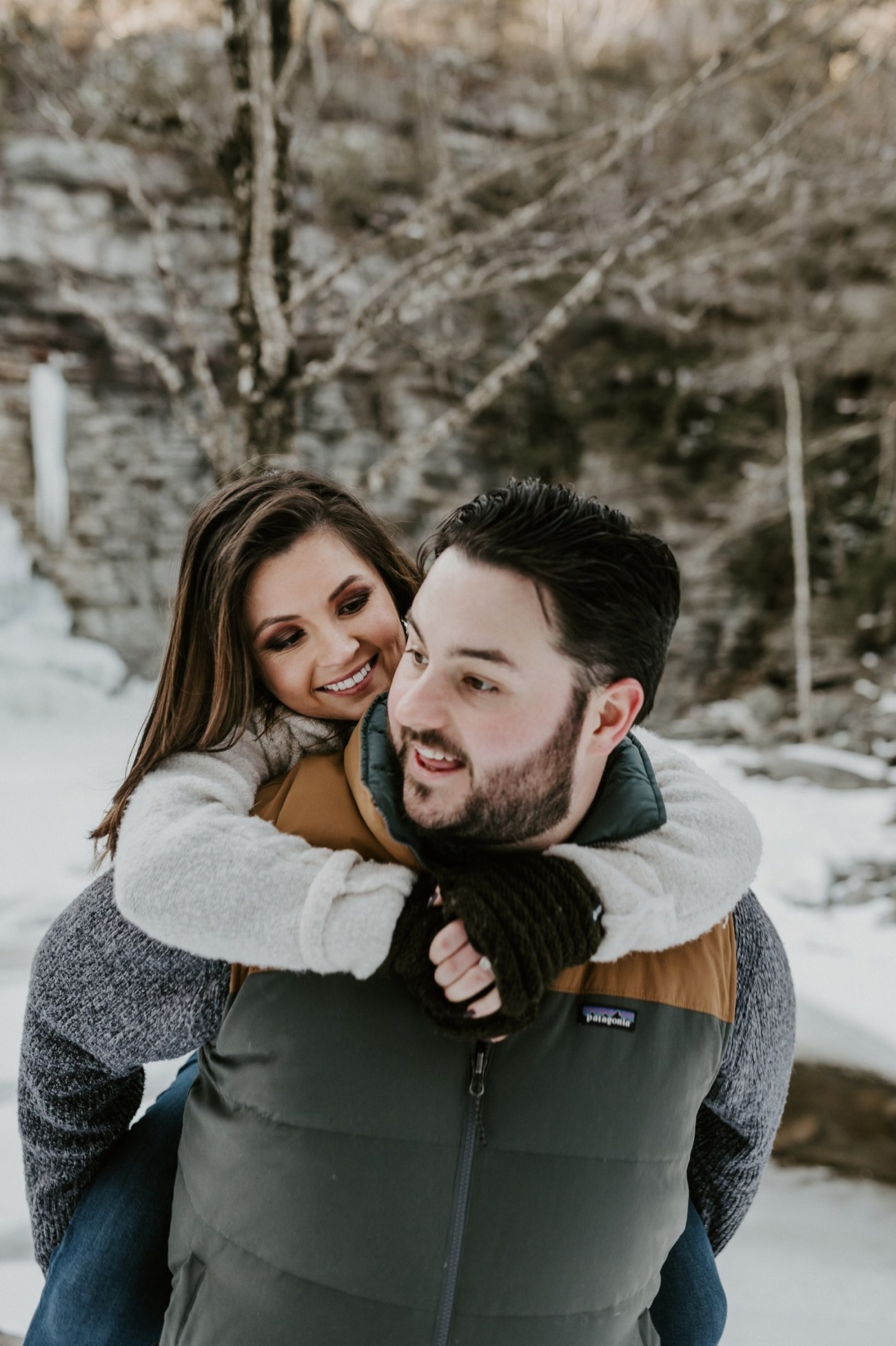 15 Minnewaska State Park Minnewaska Engagement Session Winter Engagement Adventurous Engagement
