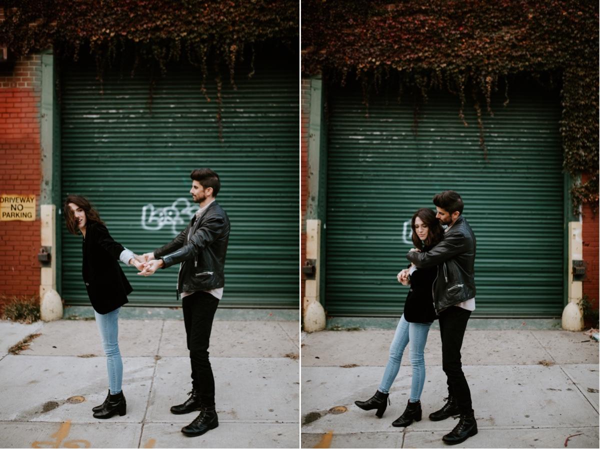 Industrial Brooklyn Engagement Destination Wedding Photographer 35