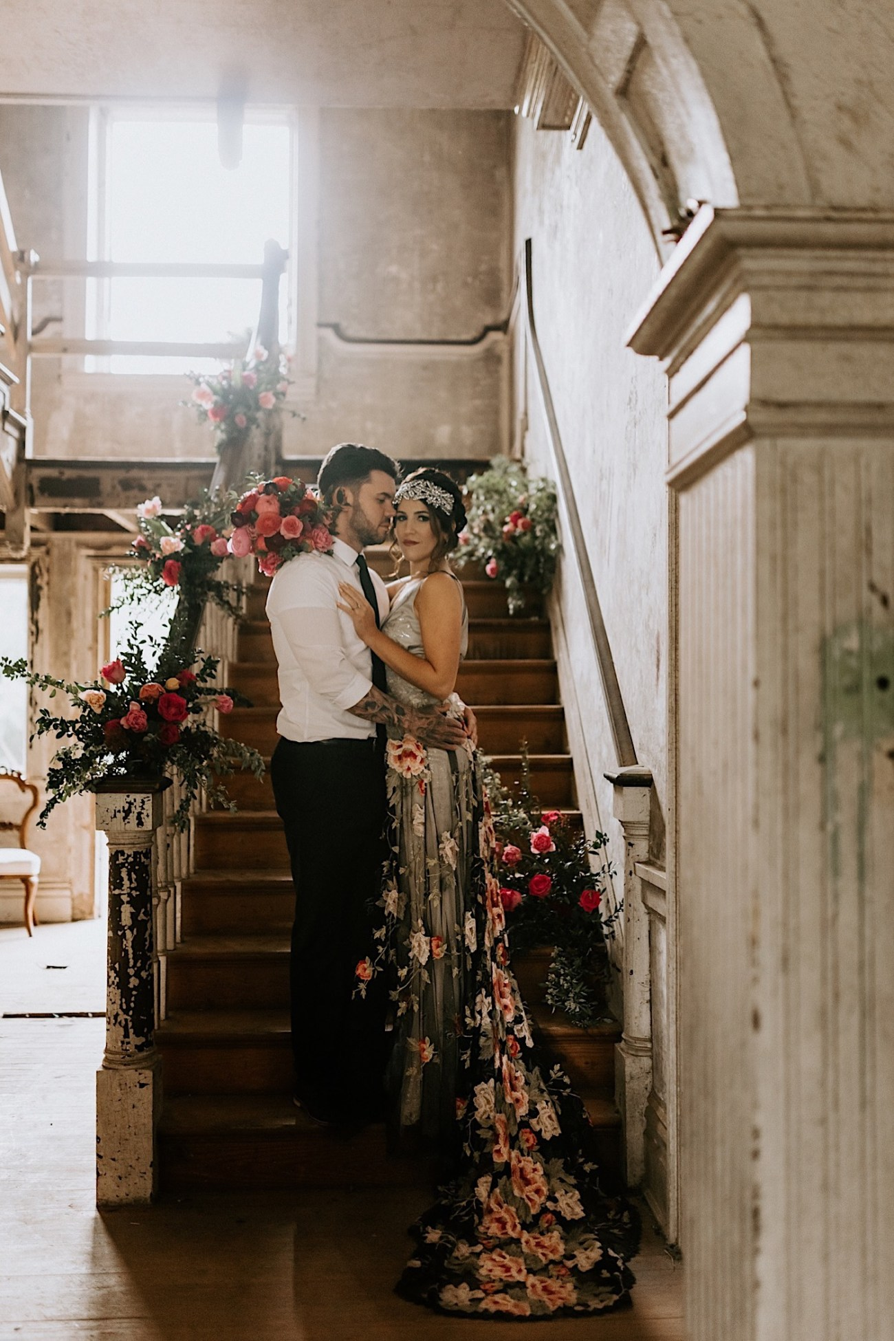 Hacienda wedding inspiration. Claire Pettibone Wedding dress. Ravena Wedding gown by Claire Pettibone. Black wedding dress inspiration. Philadelphia Wedding Photographer, Philadelphia Wedding Venue, Barnsley Manor Wedding. Anais Possamai Photography