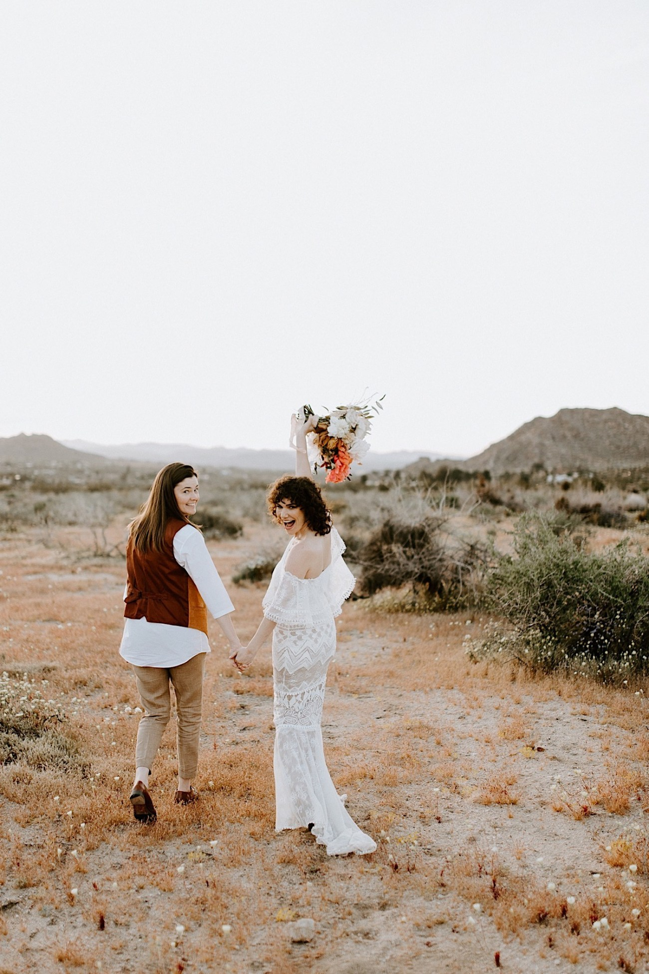 Joshua Tree Same Sex Wedding Joshua Tree Wedding Photographer Palm Springs Wedding Photographer 36