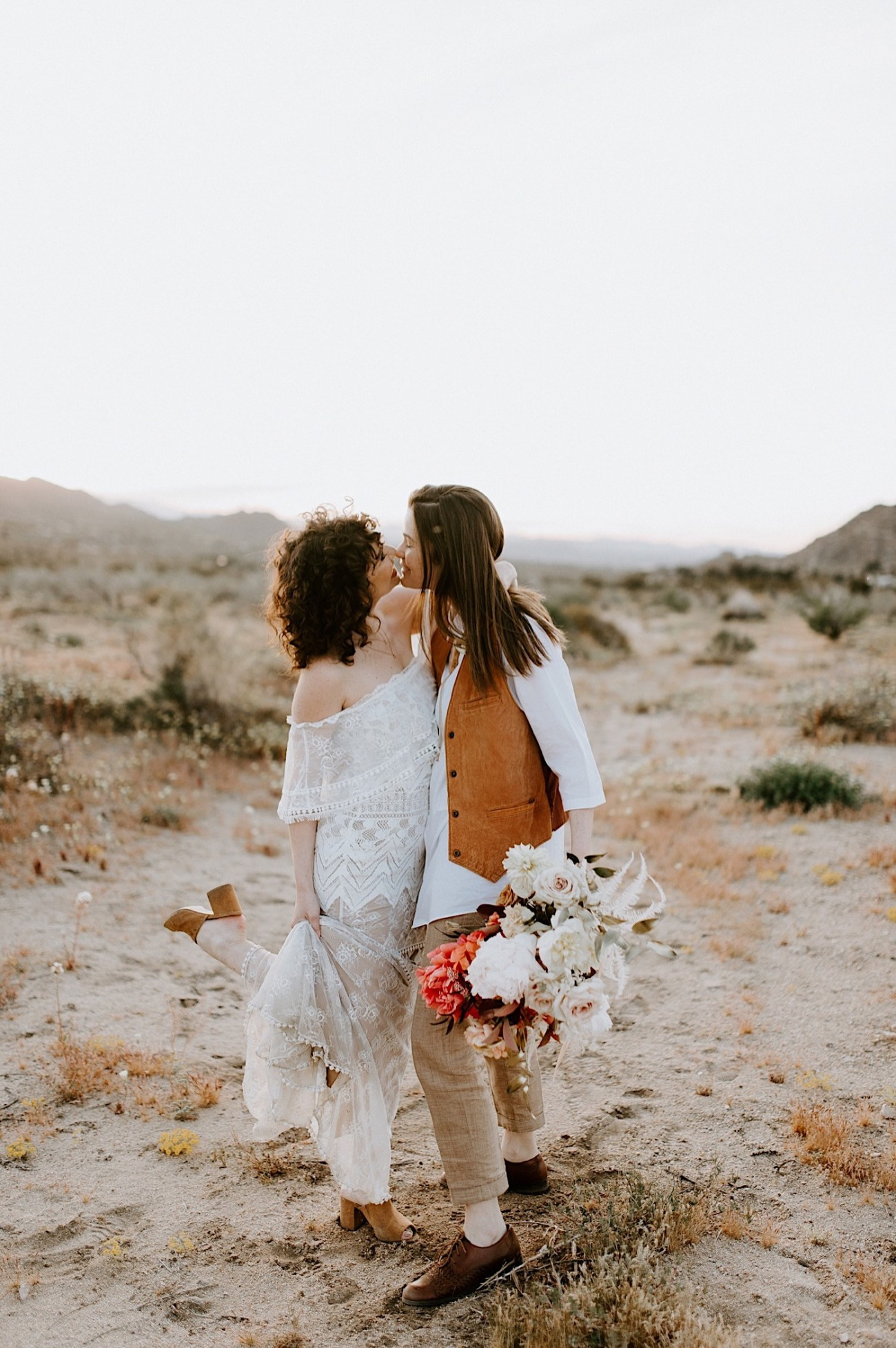 Joshua Tree Same Sex Wedding Joshua Tree Wedding Photographer Palm Springs Wedding Photographer 40