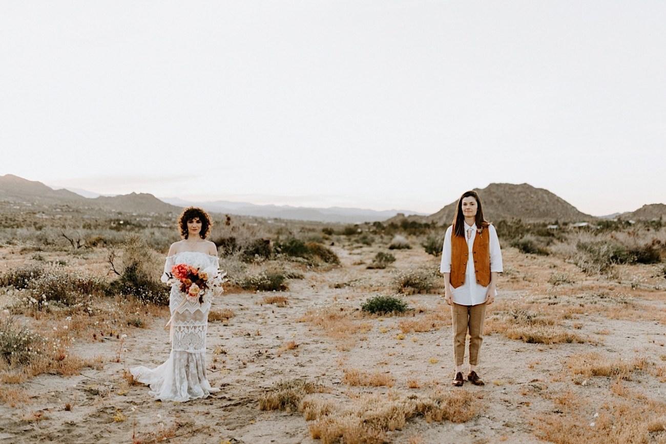 Joshua Tree Same Sex Wedding Joshua Tree Wedding Photographer Palm Springs Wedding Photographer 44