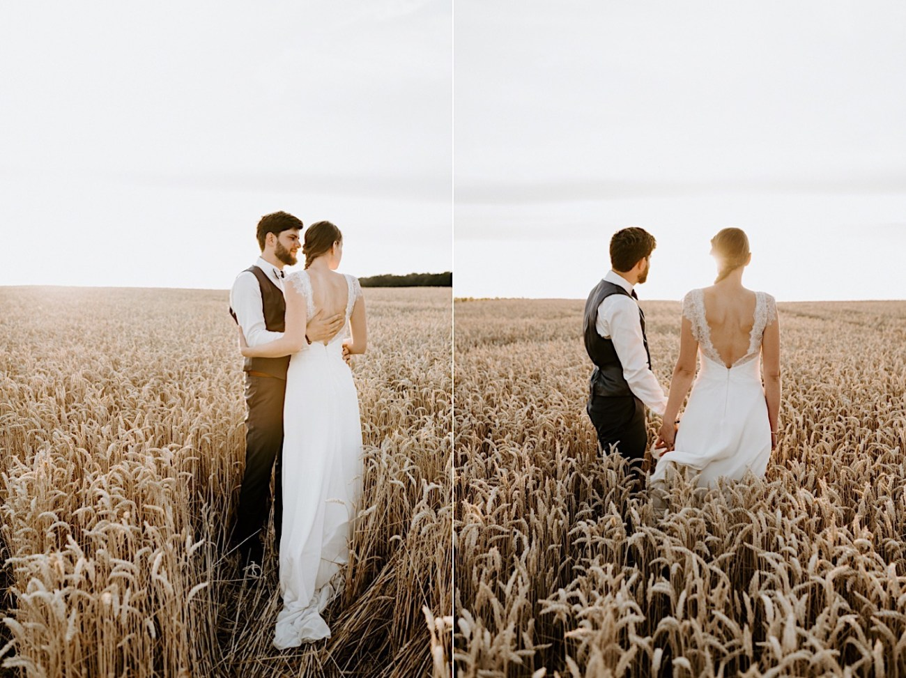 France Wedding Wheat Field Wedding Photos Paris Wedding Photographer 030