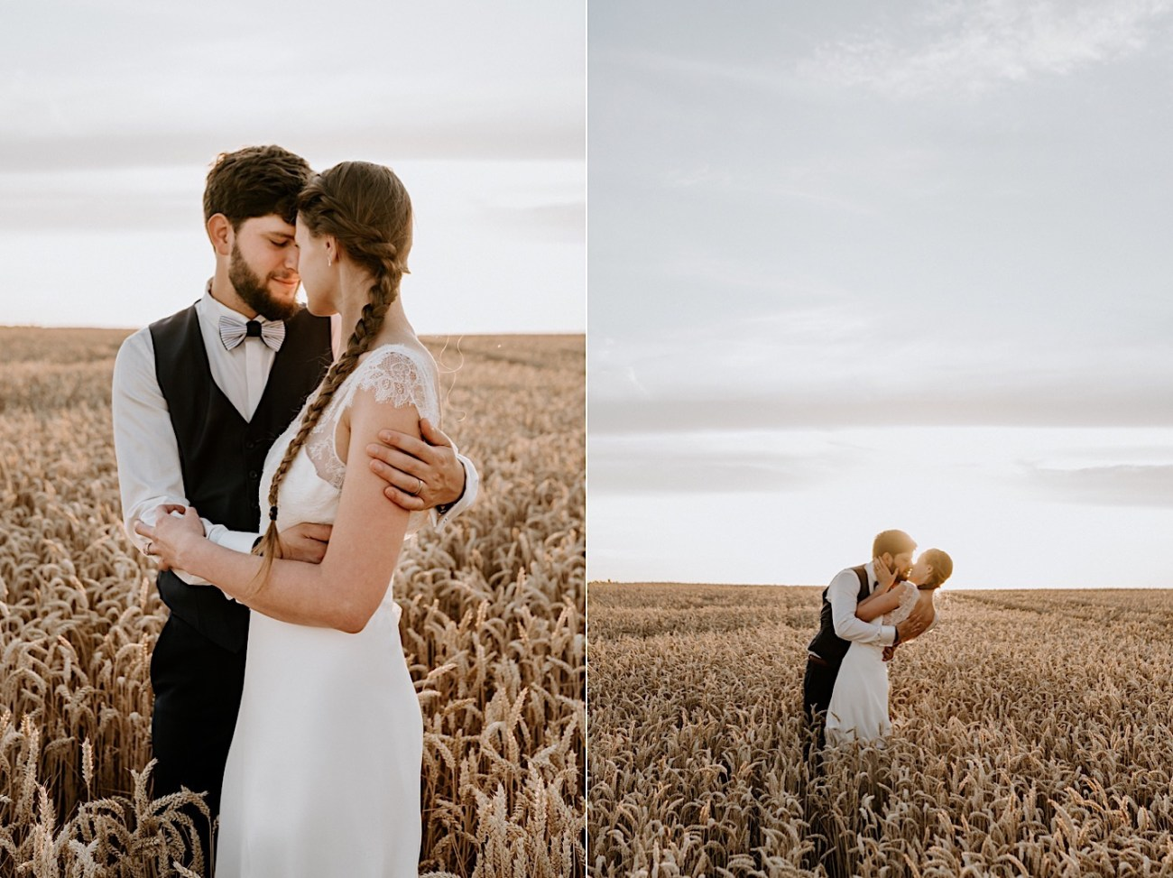 France Wedding Wheat Field Wedding Photos Paris Wedding Photographer 032
