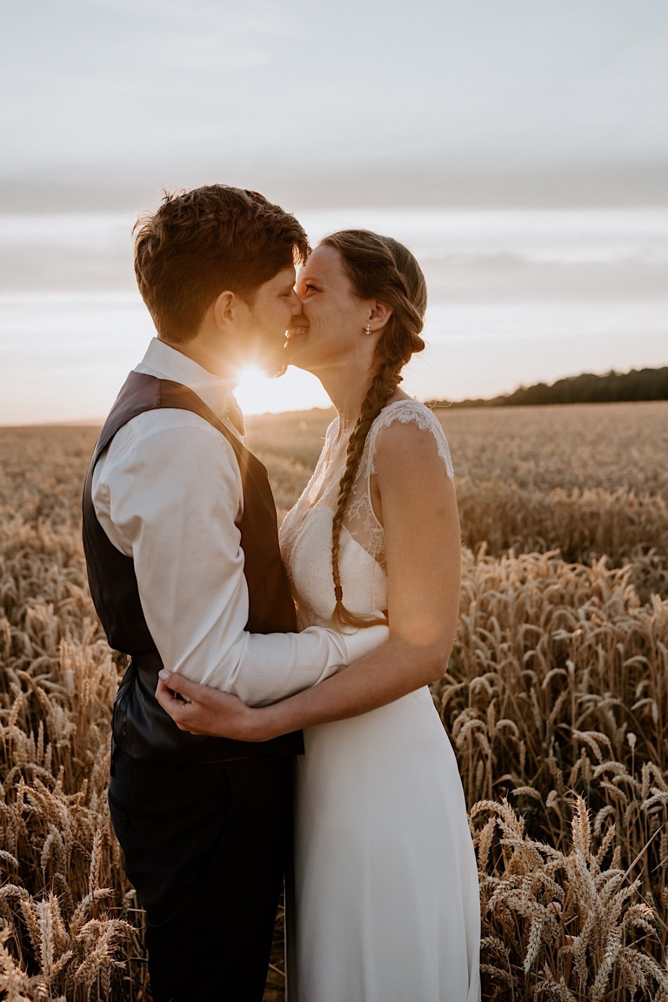 France Wedding Wheat Field Wedding Photos Paris Wedding Photographer 040