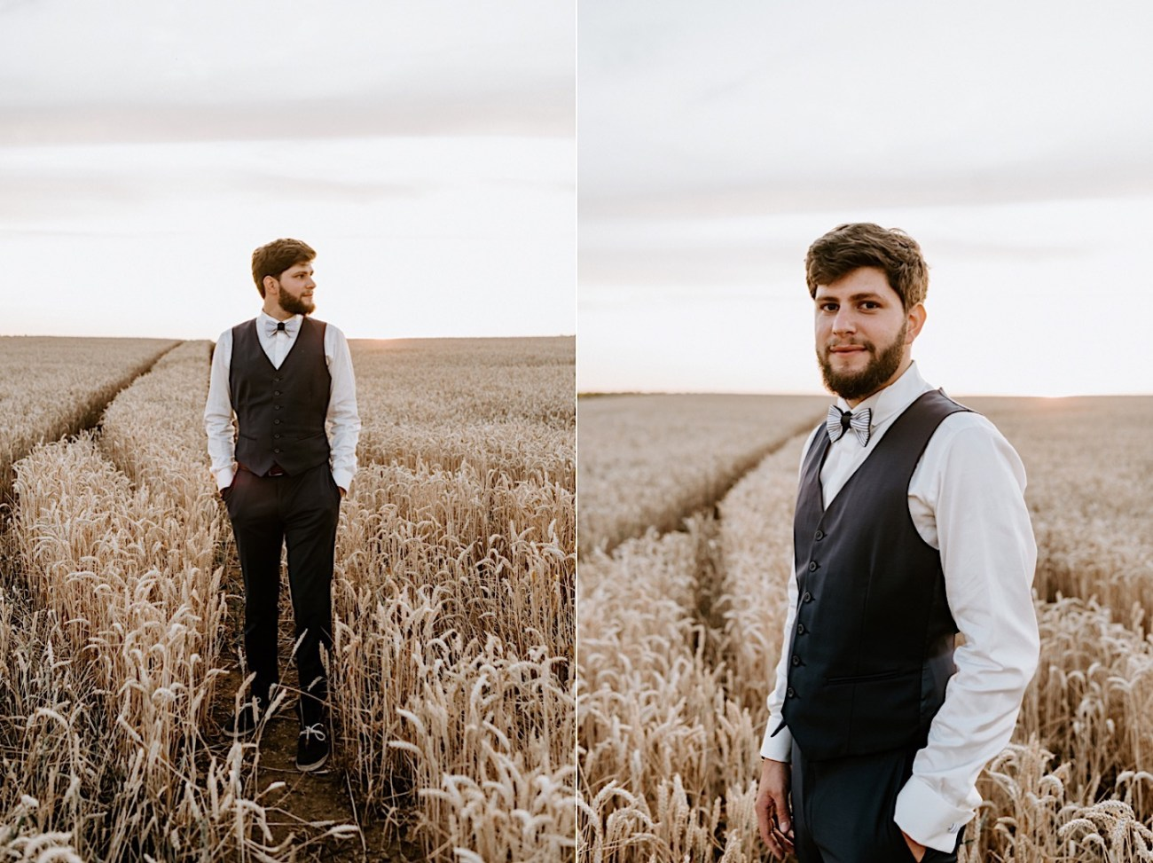 France Wedding Wheat Field Wedding Photos Paris Wedding Photographer 048