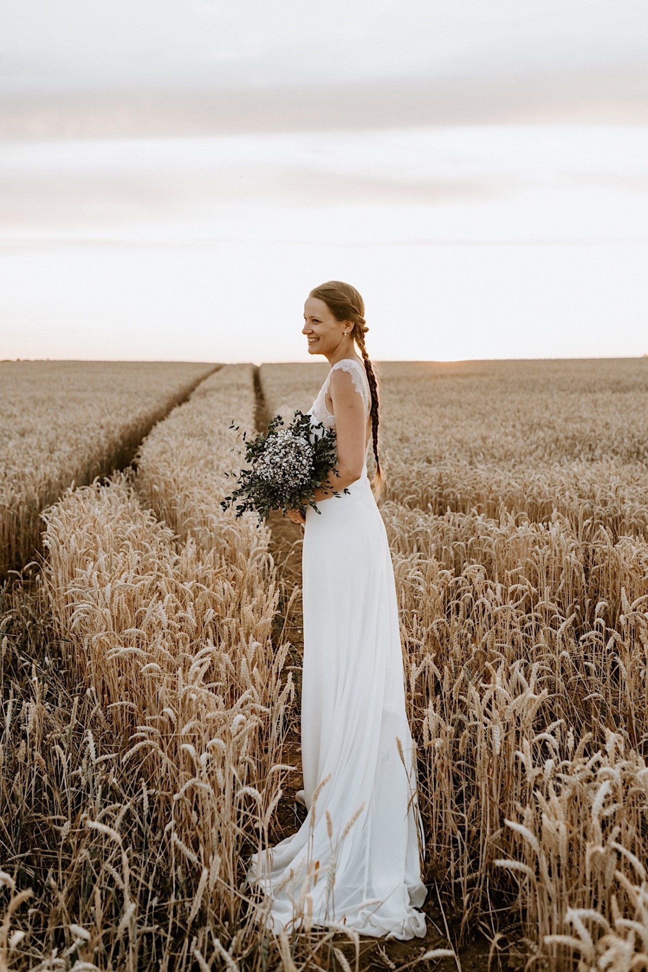 France Wedding Wheat Field Wedding Photos Paris Wedding Photographer 050
