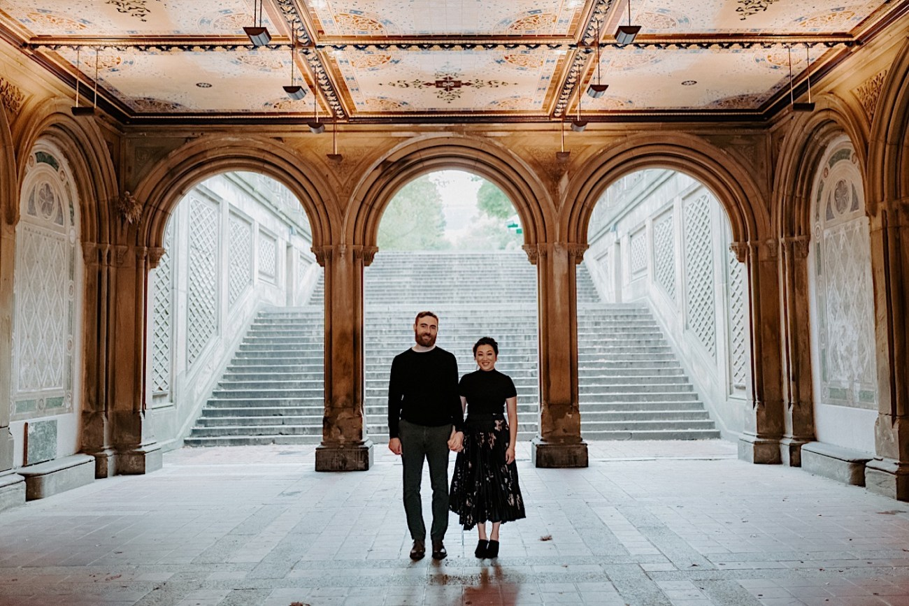 Bethesda Fountain Engagement Session NYC Engagement Photos New York Wedding Photographer 10