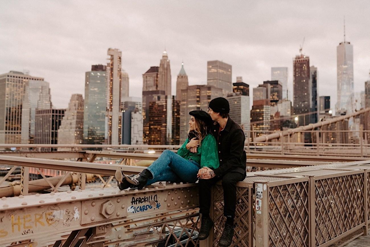 Brooklyn Bridge Engagement Session New York Wedding Photographer 09