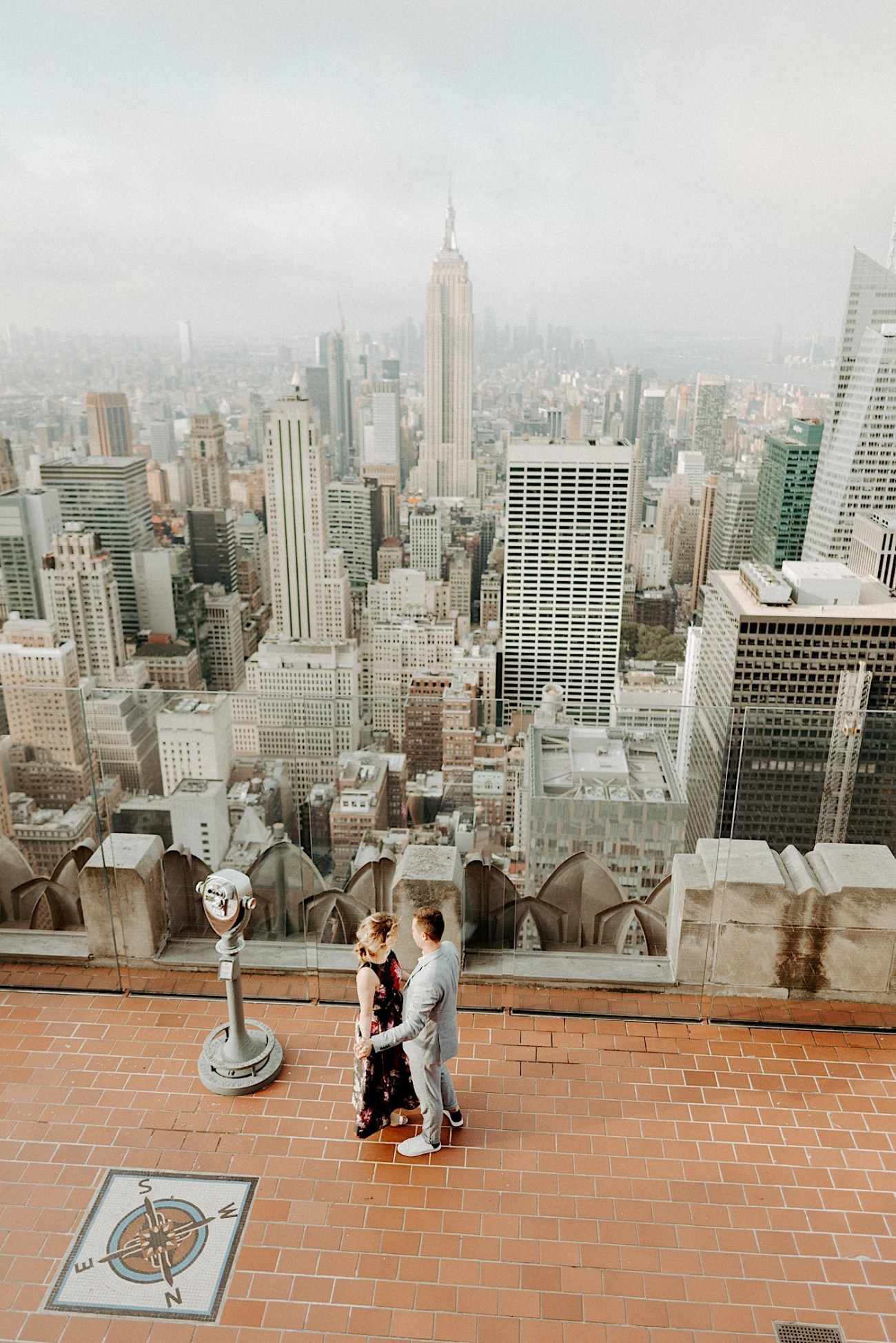 Top Of The Rock Engagement Session NYC Engagement Locations New York Wedding Photographer 02